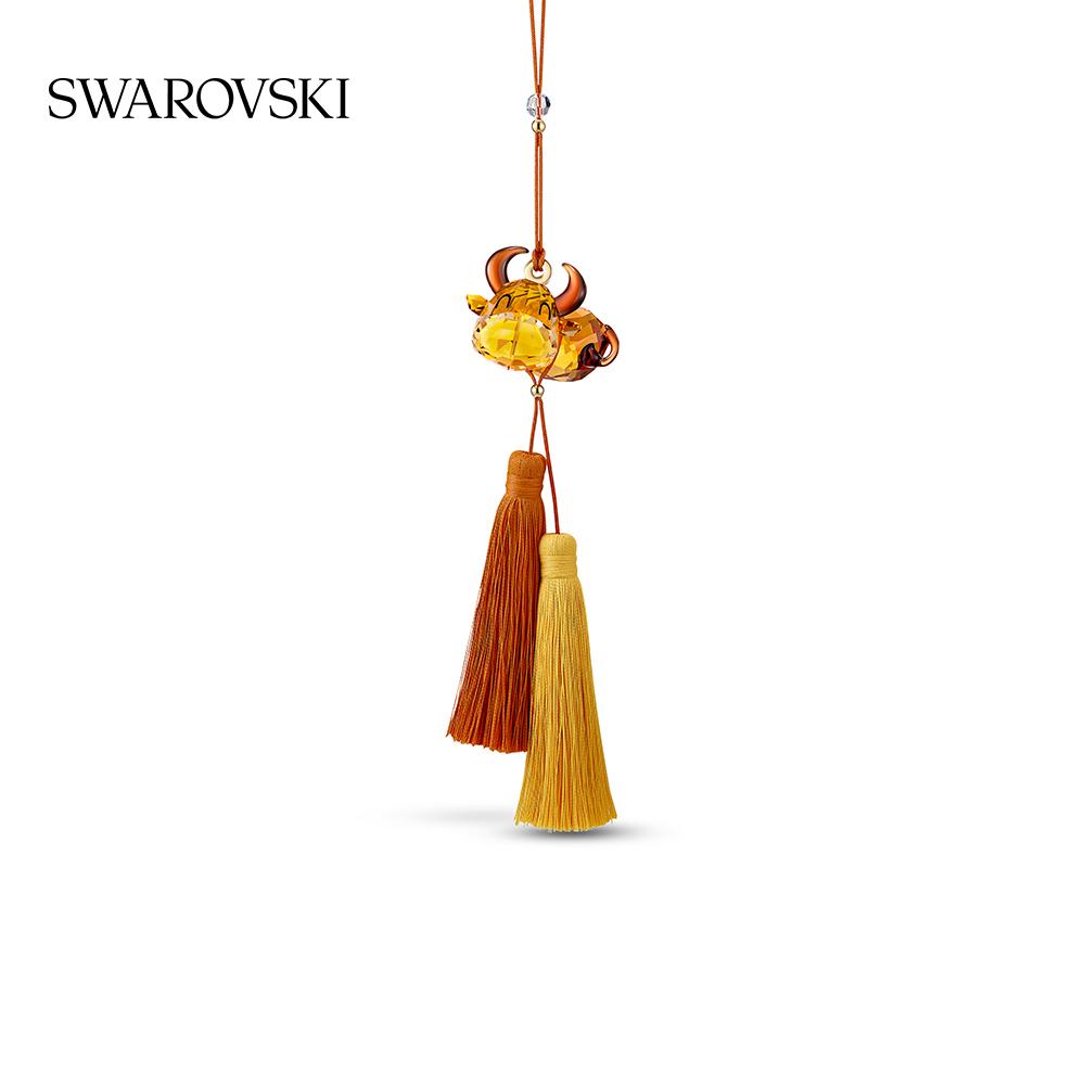 Swarovski ASIAN ORNAMENTS ZODIAC COW PENDANT Tanabata GIFT FOR GIRLFRIEND