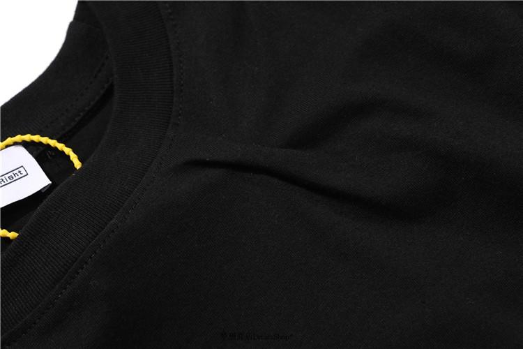 高街潮品 3601PAF 3.0 POST ARCHIVE FACTION肩部后幅扭曲褶皺黑白短袖T恤