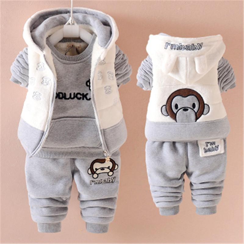 女小孩01岁半男套装3秋冬装4加宝宝服5绒衣7冬季8婴儿6-12个月9