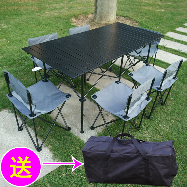 Rectangular picnic tables and chairs outdoor household foldable rectangular picnic tables and chairs outdoor household foldable aluminum stall camping table portable simple ultralight watchthetrailerfo