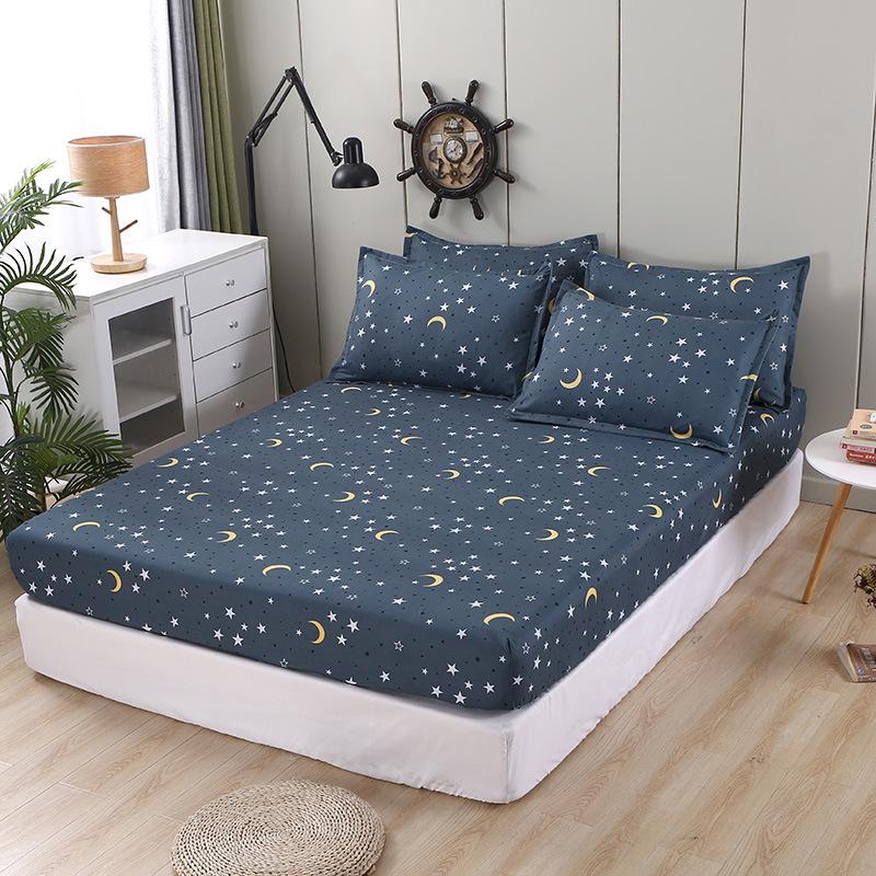 全水洗棉单件被套无印格子床单被罩简约纯色良品单品枕套床上用品