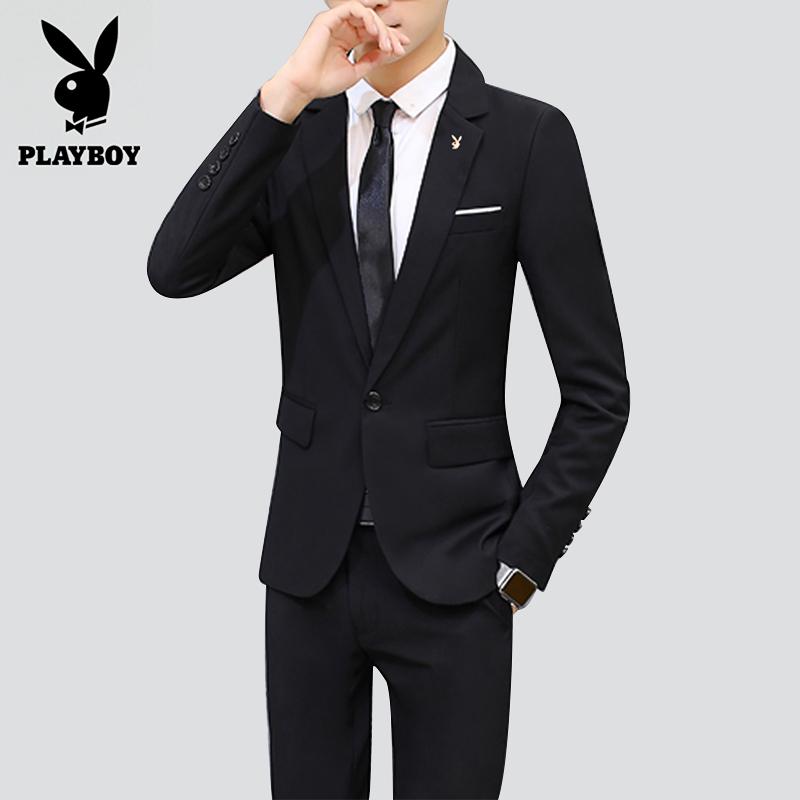 花花公子男士休闲西服青年韩版修身薄款小西装学生单西上衣外套潮