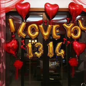 婚房创意浪漫布置女方家结婚墙