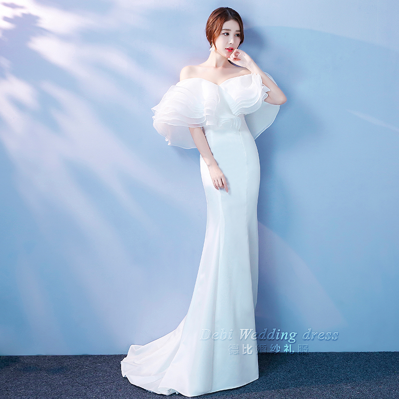Fan Bingbing star with the same paragraph white evening dress 2018 ...