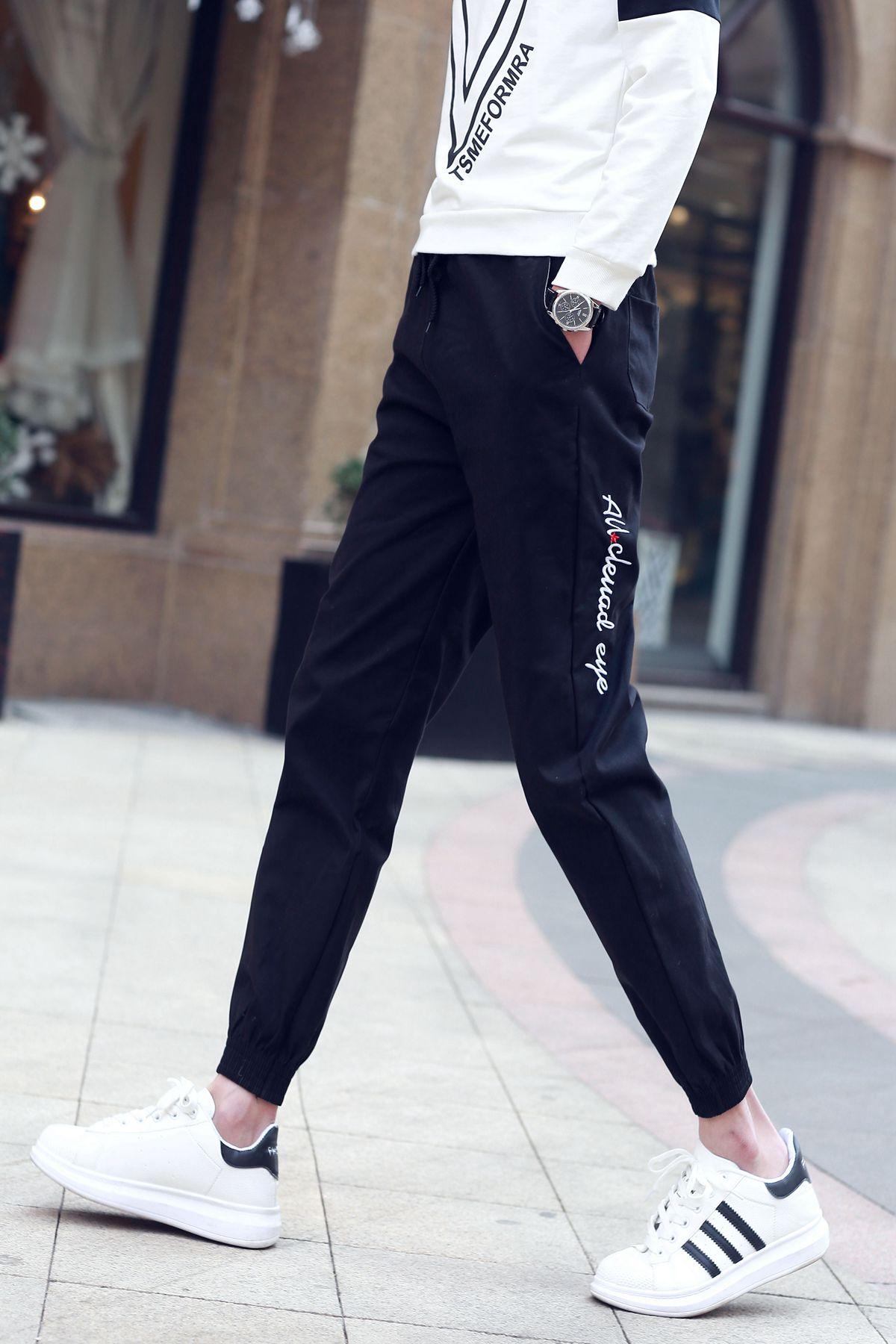 2015权志龙夏同款潮男生休闲九分裤 男士韩版修身显瘦小脚9分裤子