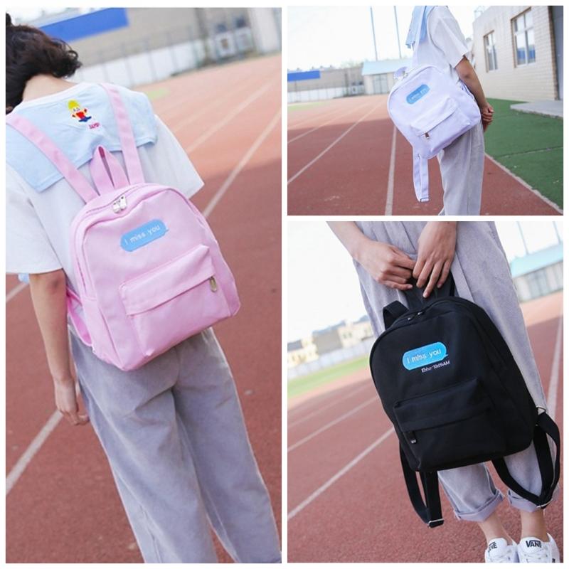 小清新帆布双肩包包 韩版女学生方格花朵学院风书包 旅行小背包潮