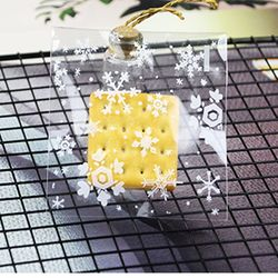雪花酥机封包装袋贴纸曲奇饼干牛扎饼食品自封袋子烘焙牛轧糖