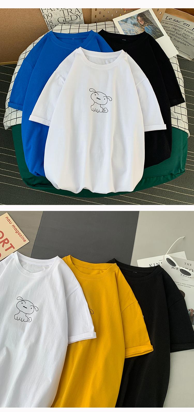 100%纯棉港风宽松情侣印花T恤青年男女半袖潮流学生短袖TX013-P18