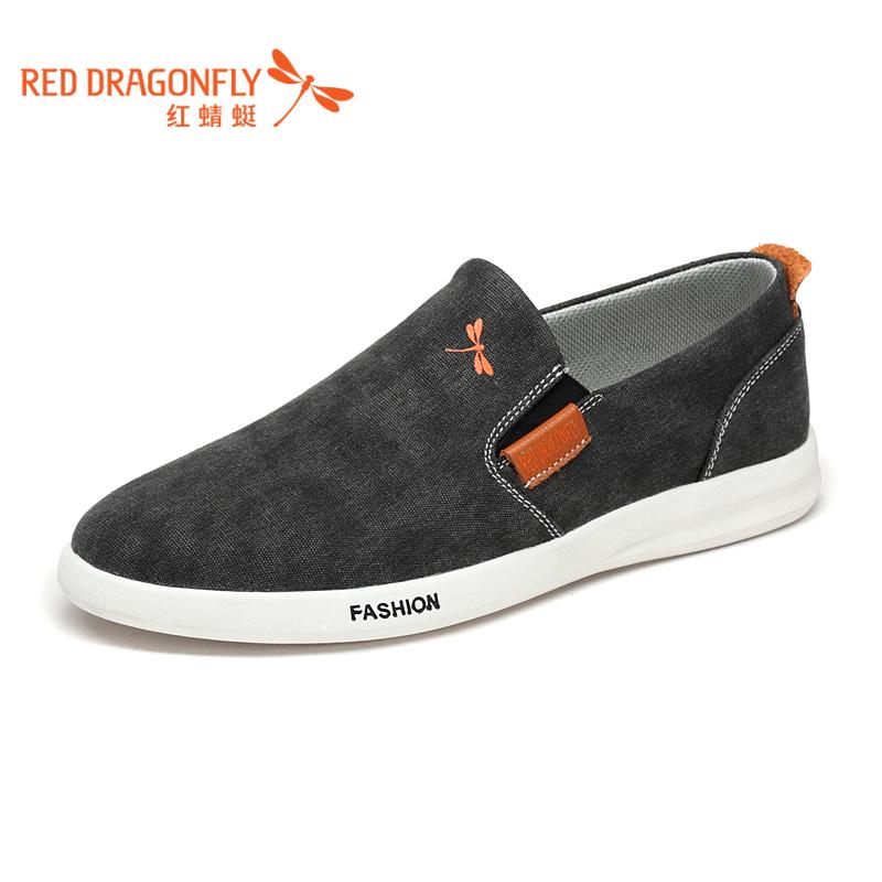 【红蜻蜓】男士潮流帆布鞋