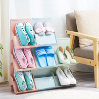 Multifunctional plastic shoe rack simple multi-layer economical shoe rack home superimposed storage rack simple modern shoe cabinet