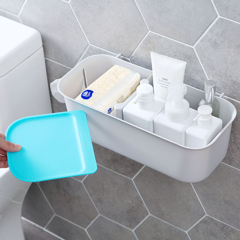 USD 9.24] Plastic-free drilling paste storage rack bathroom wall bar ...