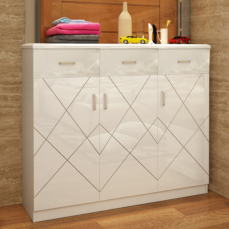 Paint Storage Entrance Shoe Cabinet Modern Simple Fashion 2 Door 3 Door  Shoe Cabinet Large Capacity With Drawers Shoe Cabinet