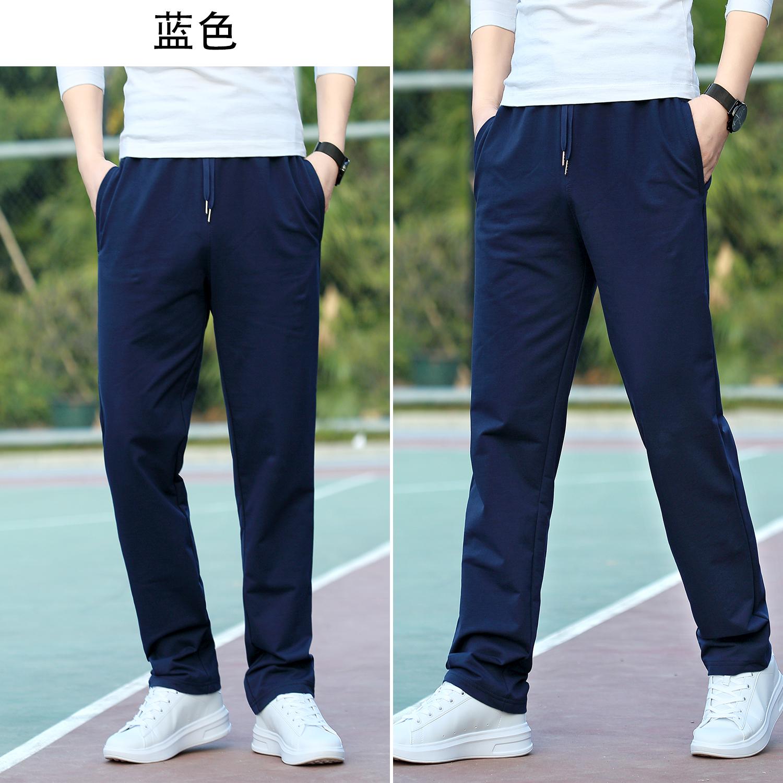 Quần thể thao nam giản dị quần cotton mùa hè mỏng phần lớn quần co giãn eo thẳng quần mùa thu quần lỏng thủy triều - Quần mỏng