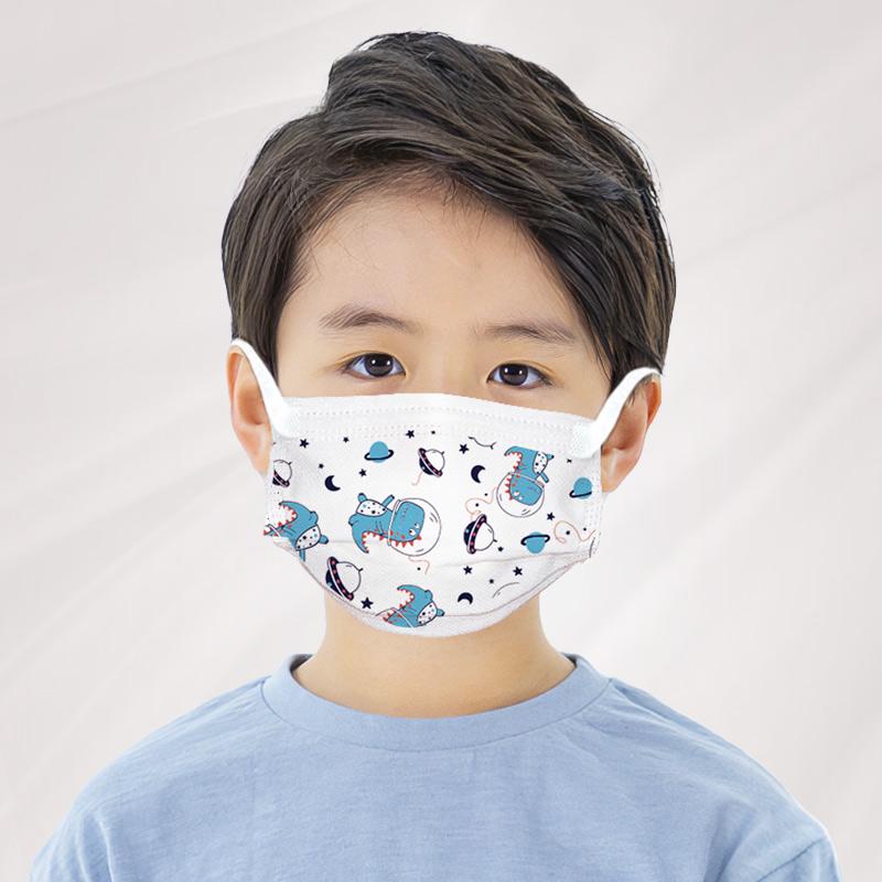 儿童口罩专用  一次性三层防护口罩男女童学生含熔喷 防尘透气