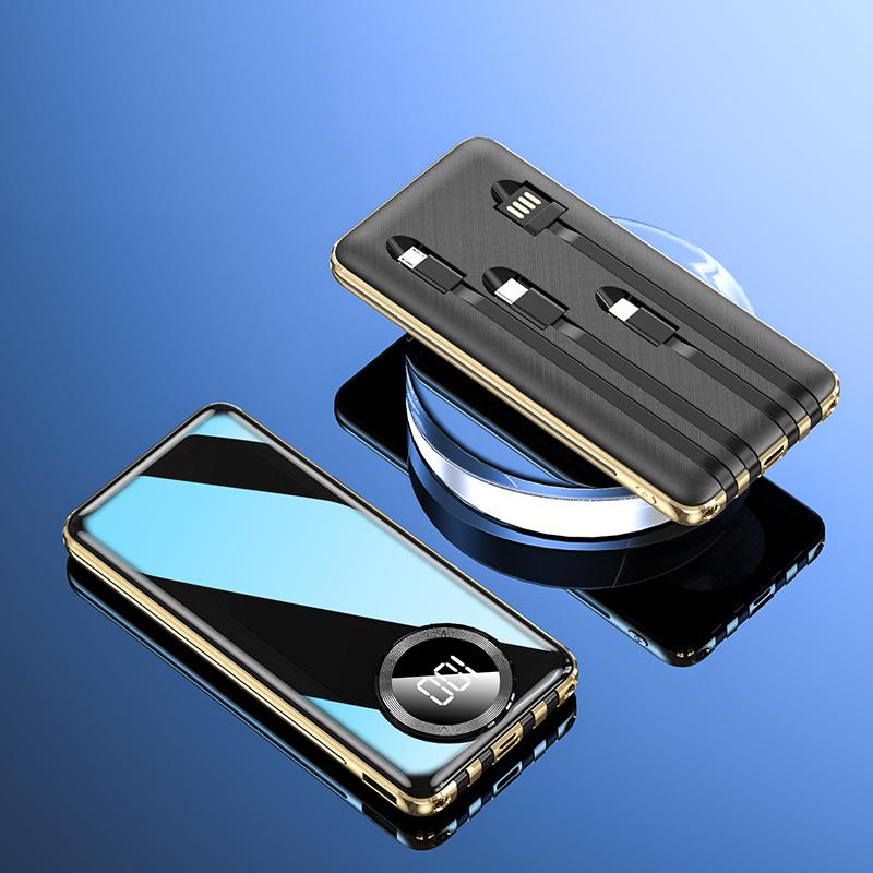 超大容量充电宝1000000M自带线正品适用小米oppo苹果专用vivo快充
