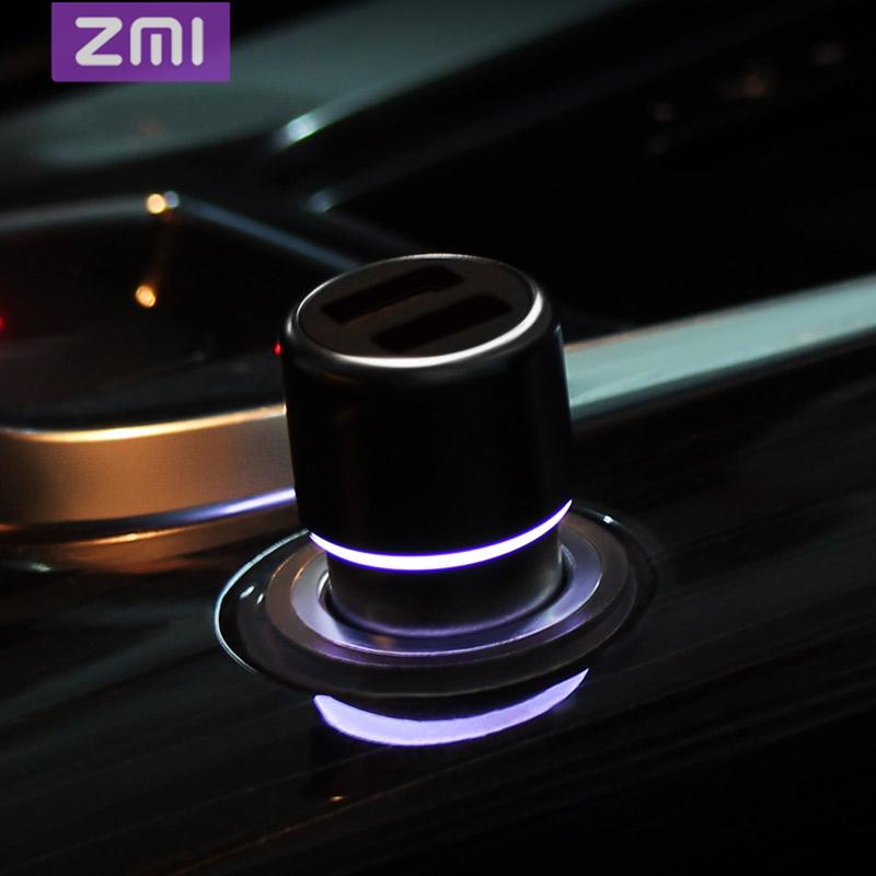 小米旗下品牌 ZMI 紫米 双口QC3.0快充车用充电器
