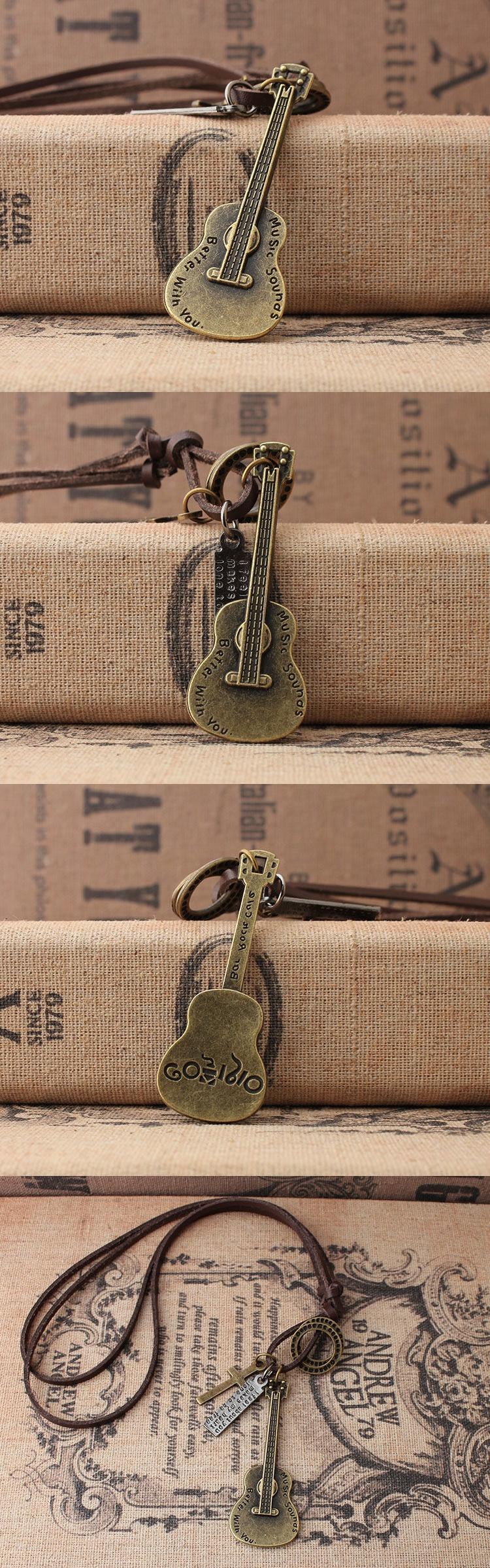 中國代購 中國批發-ibuy99 吉他挂件日韩风时尚饰品吉他乐器合金音符吊坠男女生长款毛衣链绒