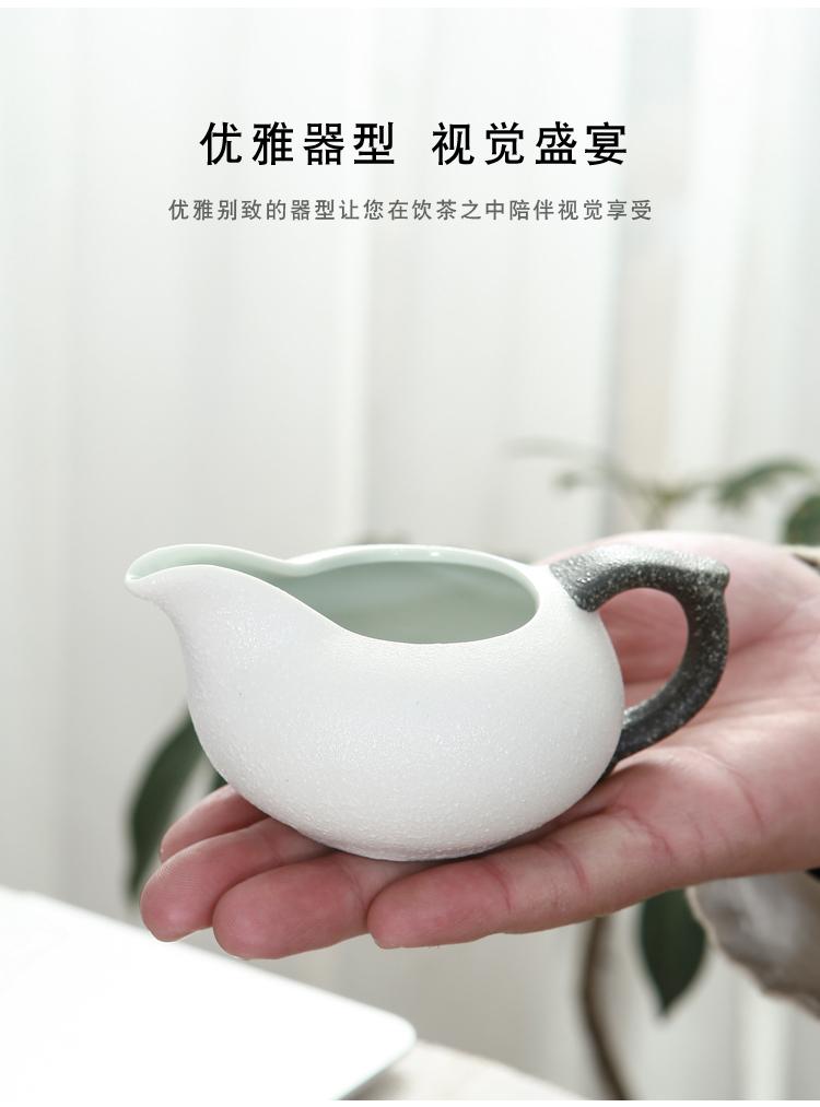 功夫茶具小套装家用简约客厅储水式干泡茶盘小茶臺陶瓷侧把壶茶杯详细照片