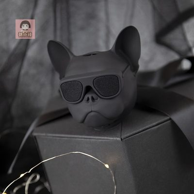 Zhang Xiaochui French Fighting Dog Head Bluetooth Audio Wireless Walkman Mini Portable Subwoofer Best Man Souvenir