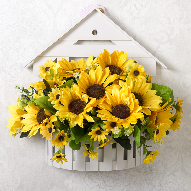 wall-mounted fake flower artificial flower hanging wall decoration