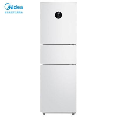 【美的86】215L一级智能家电家用节能冰箱三开门白色变频风冷无霜