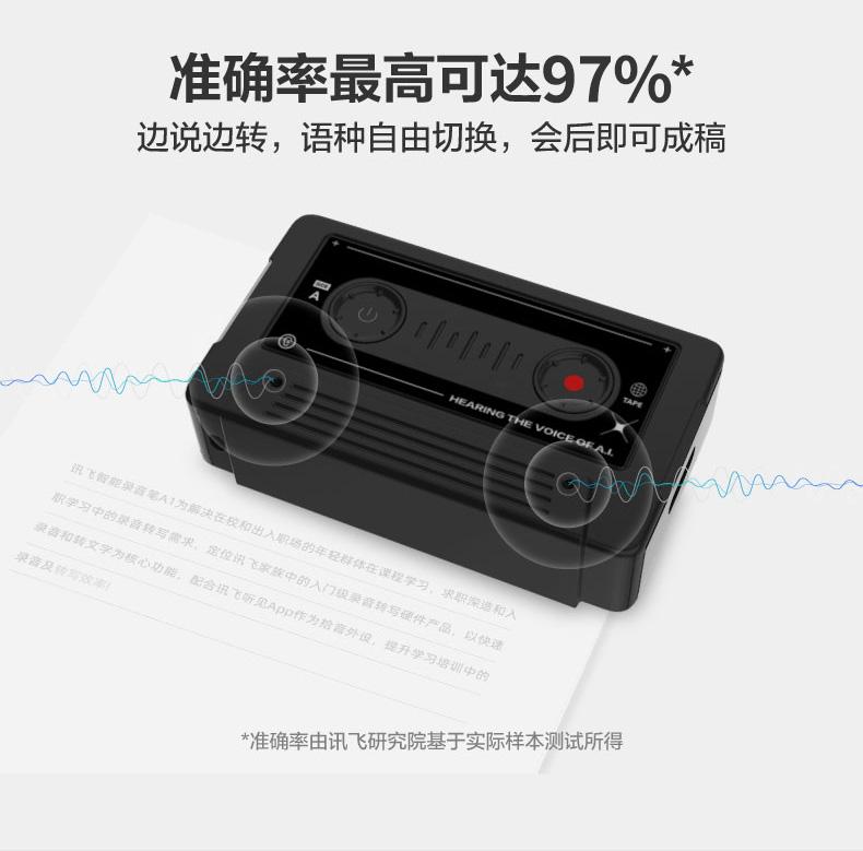 科大讯飞 A1 智能录音笔 97%转写准确率 仅U盘大小 图7
