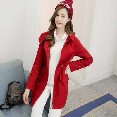 Spring and autumn with a new windbreaker women's long section of Korean Slim was thin plus size women's womens coat winter jacket tide
