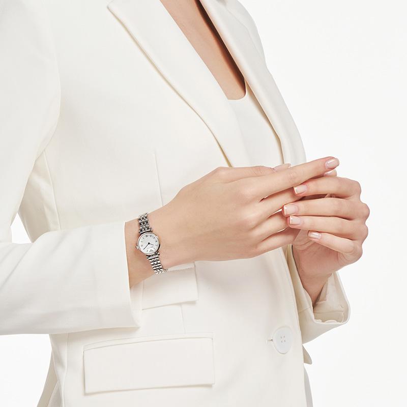 【双十一预售】Armani阿玛尼白月光手表女士经典轻奢小表盘AR1763