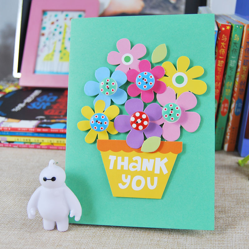 Usd 1211 children creative button painting stereo greeting card greeting card handmade diy material package thanksgiving day card zoom lightbox moreview lightbox moreview lightbox moreview m4hsunfo Choice Image