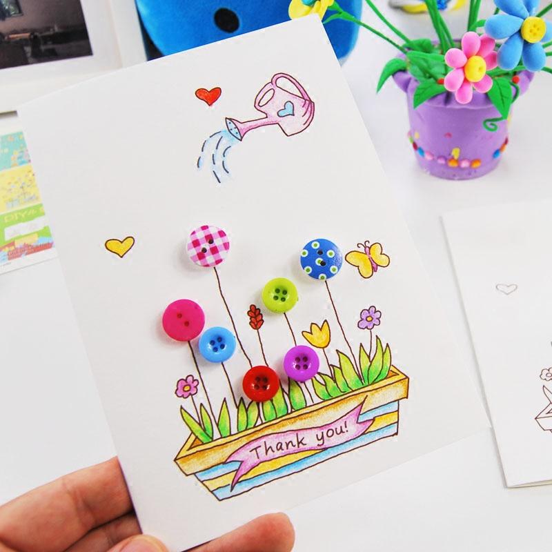 38 cards handmade diy material send mom stereo card