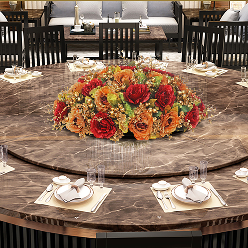 Wondrous Dining Table Flower Large Round Table Hotel Room Dining Table Flower Decoration Fake Flower Creative High Grade Silk Flower Round Table Nanchang Beutiful Home Inspiration Truamahrainfo