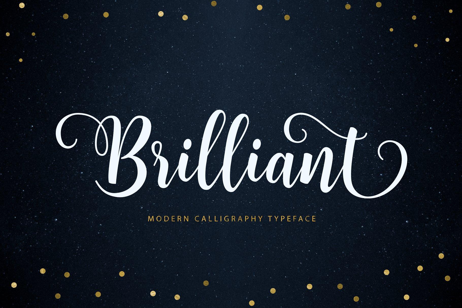 手绘字体素材 Brilliant sc<x>ript设计素材模板