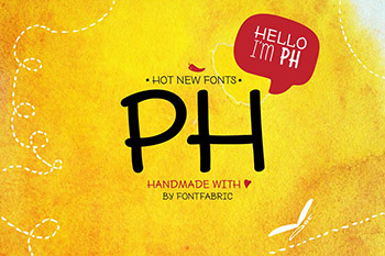 PH手绘字体包 PH - 96 Handmade Fonts