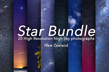20个星空背景纹理素材 Star Bundle - 20 Stars Photographs
