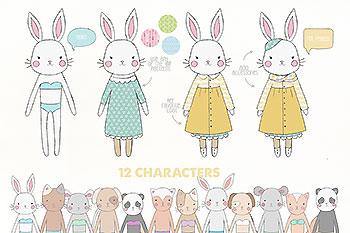 可爱的故事动物水彩合集 Love Story Collection Creator Pro