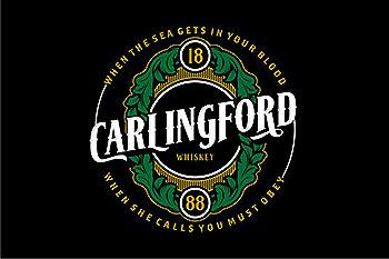 怀旧个性的字体 Carlingford