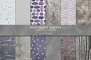 北欧时尚风格北方寒热色彩银色主题的背景纹理素材