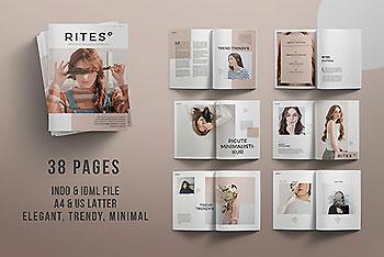 专业的时尚多图文排版杂志画册模板[indd]