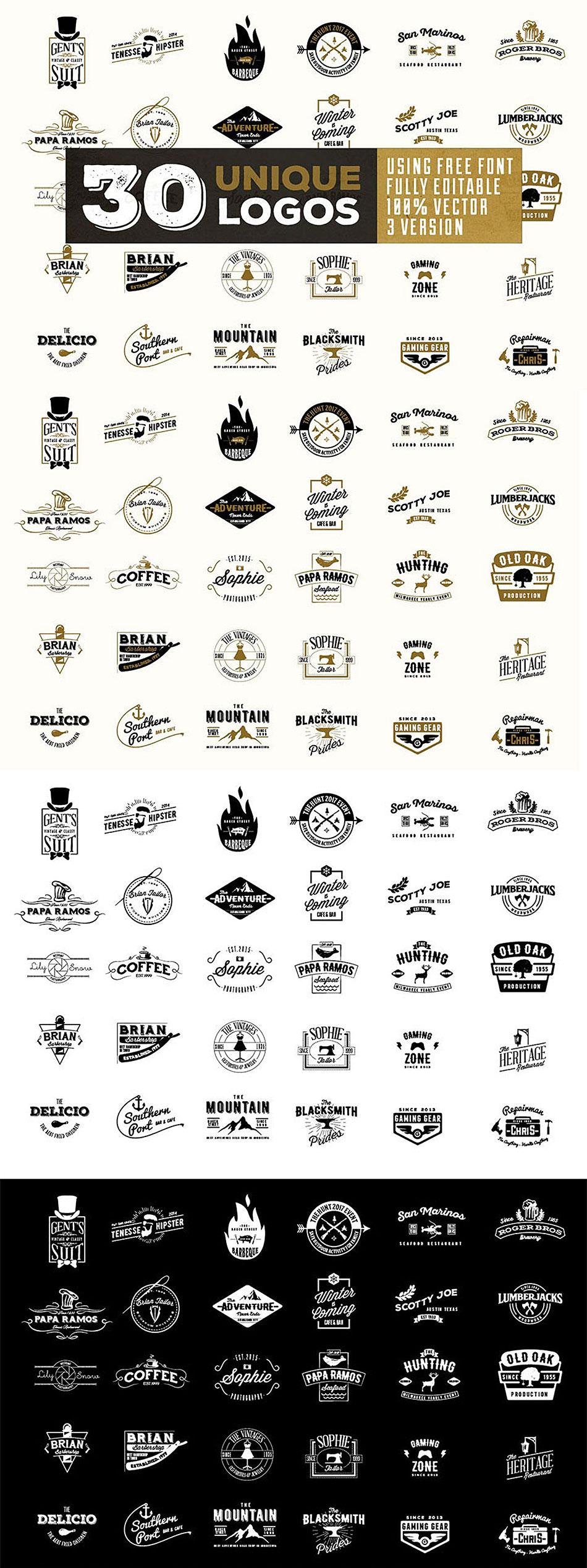 30个精致好用的logo矢量徽章素材文件下载[Ai]设计素材模板