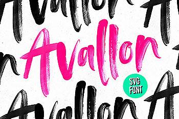 Adobe 标准 OpenType-SVG 字体 Avallon OpenType-SVG Font