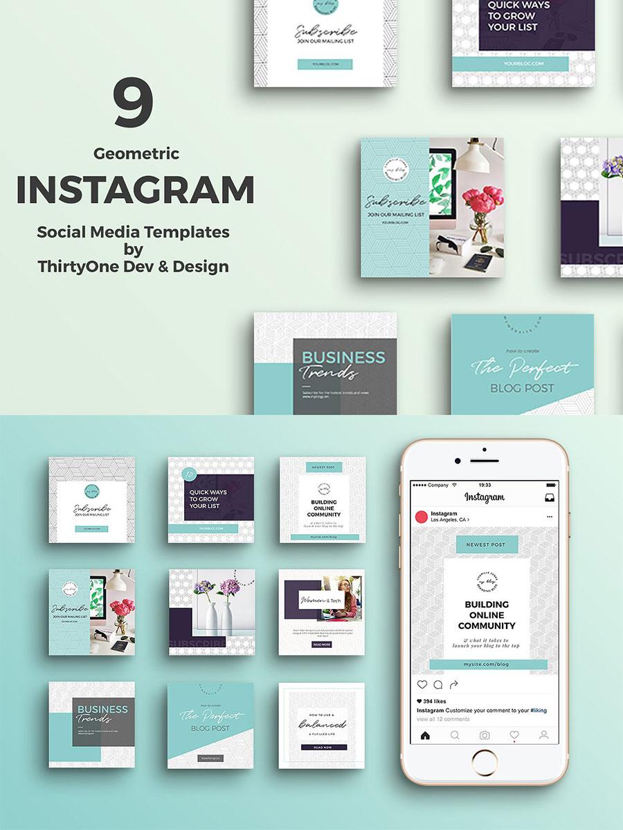 粉蓝色的清新文艺风的广告banner社交SNS模版下载[PSD]设计素材模板