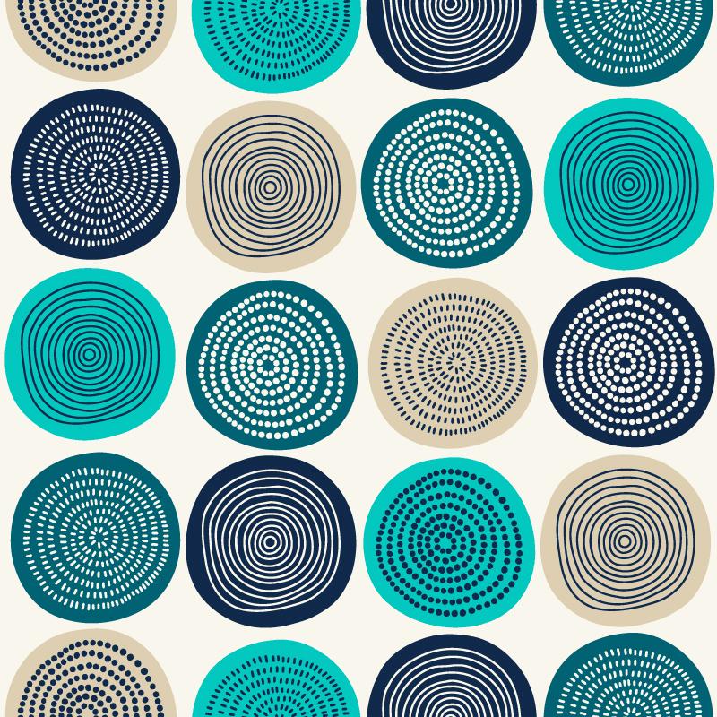 抽象时尚的圈圈图案 Abstract circles pattern design设计素材模板