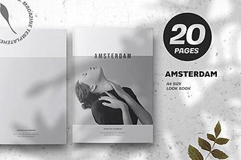 阿姆斯特丹极简主义画册模板