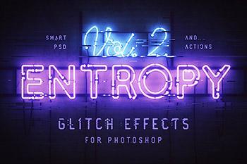 图层样式故障霓虹灯字体高品质的时尚高端震撼的photoshop