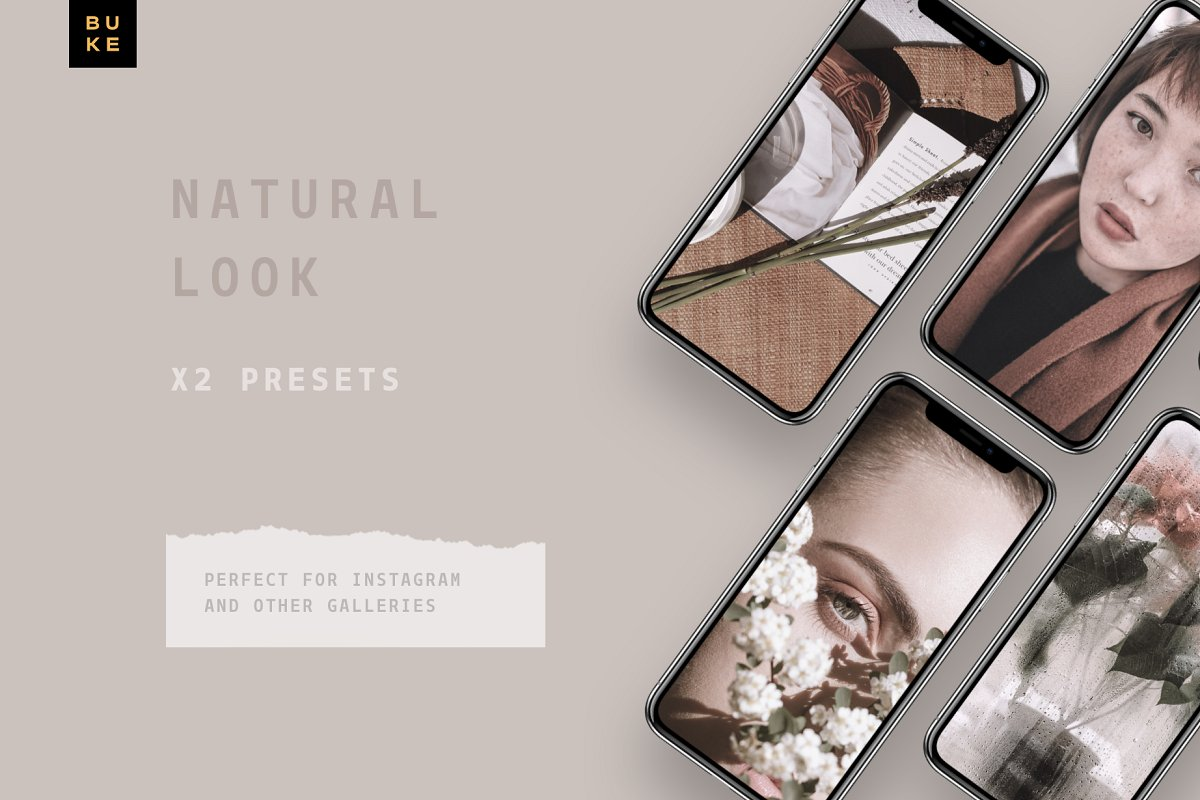 中性色调照片调色滤镜Lightroom预设下载设计素材模板