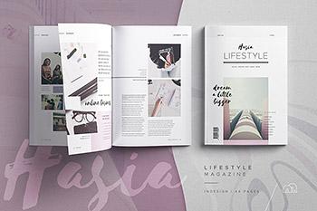 Hasia – 时尚生活杂志设计模板下载