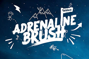 手写笔刷字体 Adrenaline Brush Typeface