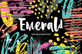 有趣的笔刷字体 Emerald – playful brush font