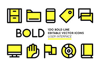 ui用户页面图标 BOLD icons User Interface essentials