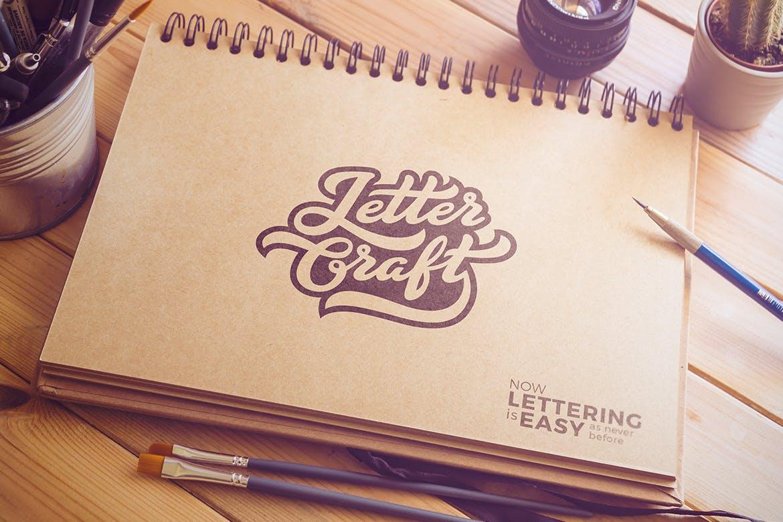 字体 | 英文书法流畅笔触时尚好看刻字文字设计素材模板